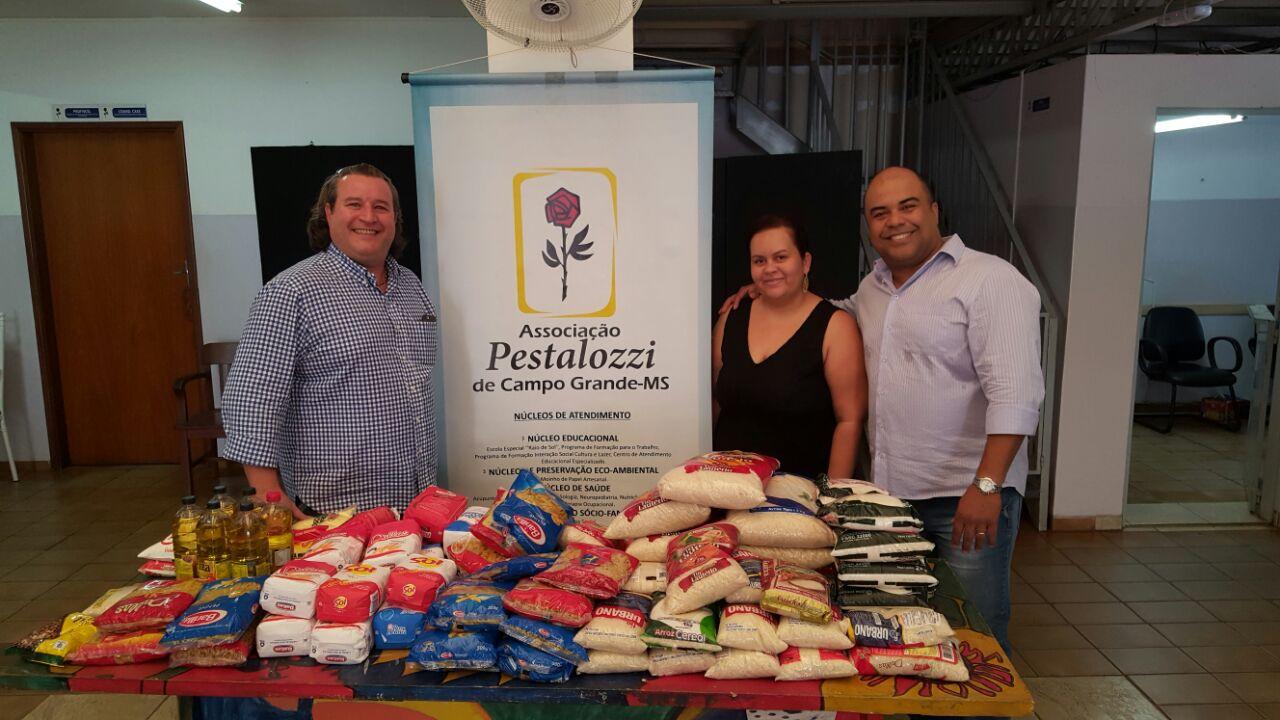 ABO-MS faz doação de alimentos para Pestalozzi de Campo Grande