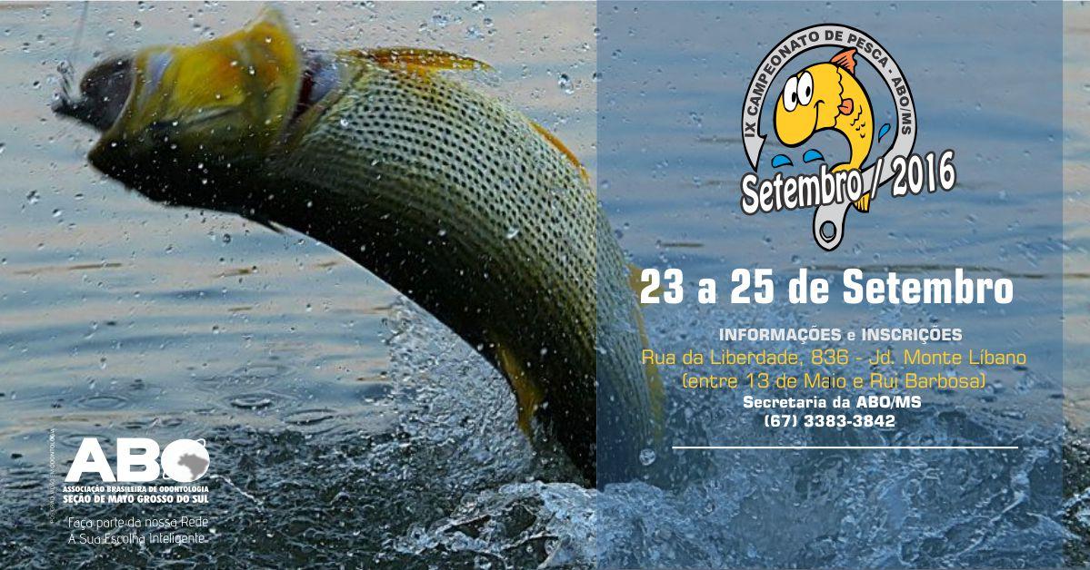 Inscrições abertas para tradicional Campeonato de Pesca da ABO-MS