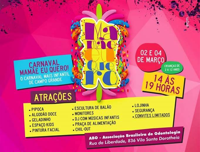 ABO-MS vira opção para crianças pularem o carnaval