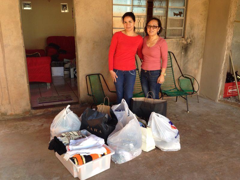 ABO-MS faz doação de agasalhos