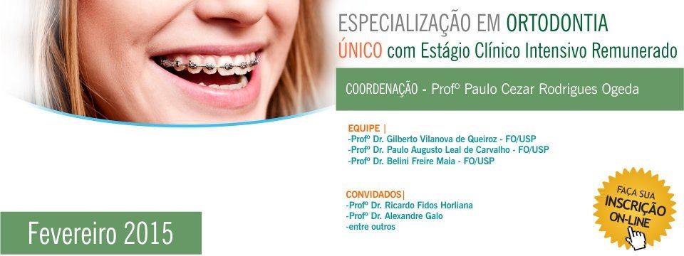 Especialização em Ortodontia – 2015