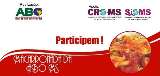 Tradicional Macarronada da ABO-MS será no próximo domingo
