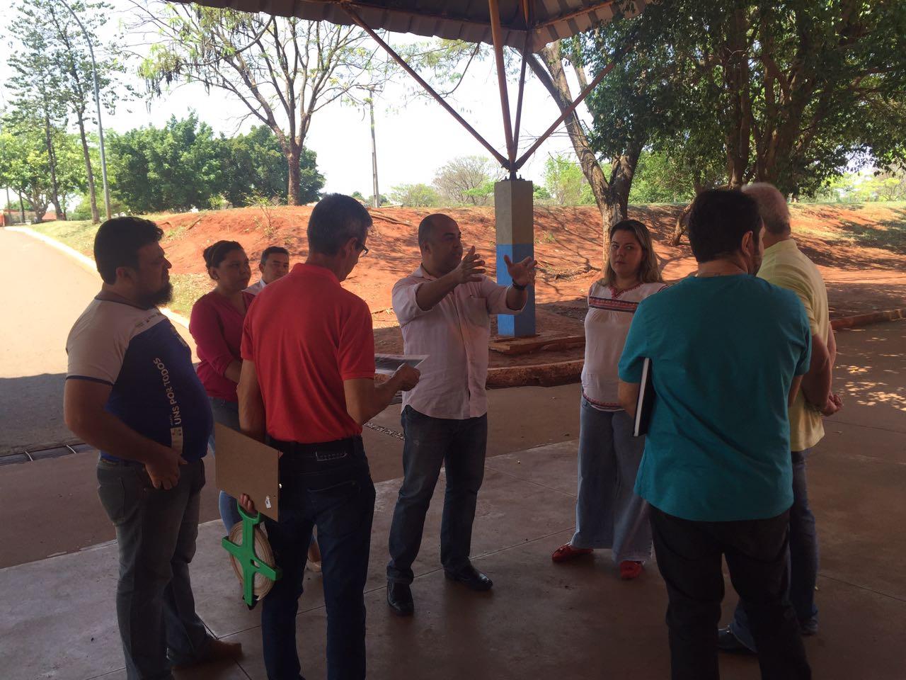 ABO-MS visita local em que será realizado o Sorriso do Tamanho do Brasil
