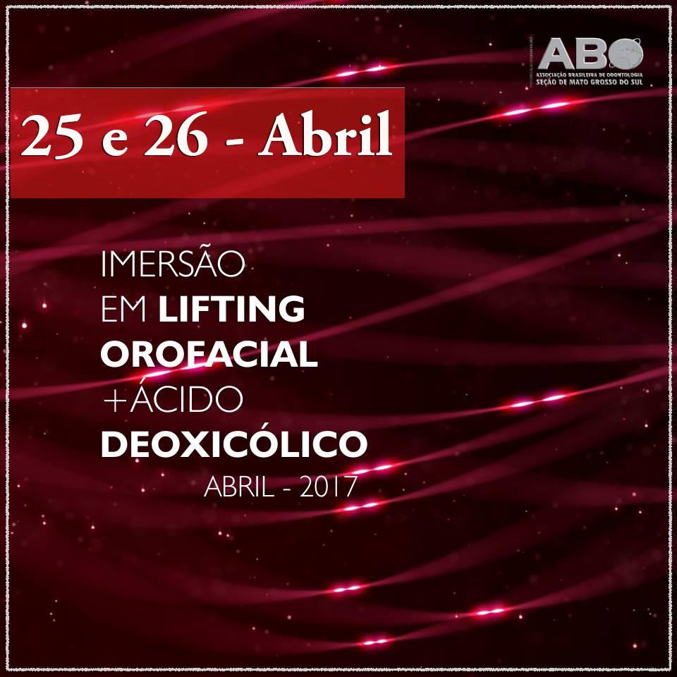 ABO-MS realiza Imersão em Lifting Orofacial + Ácido Deoxicólico