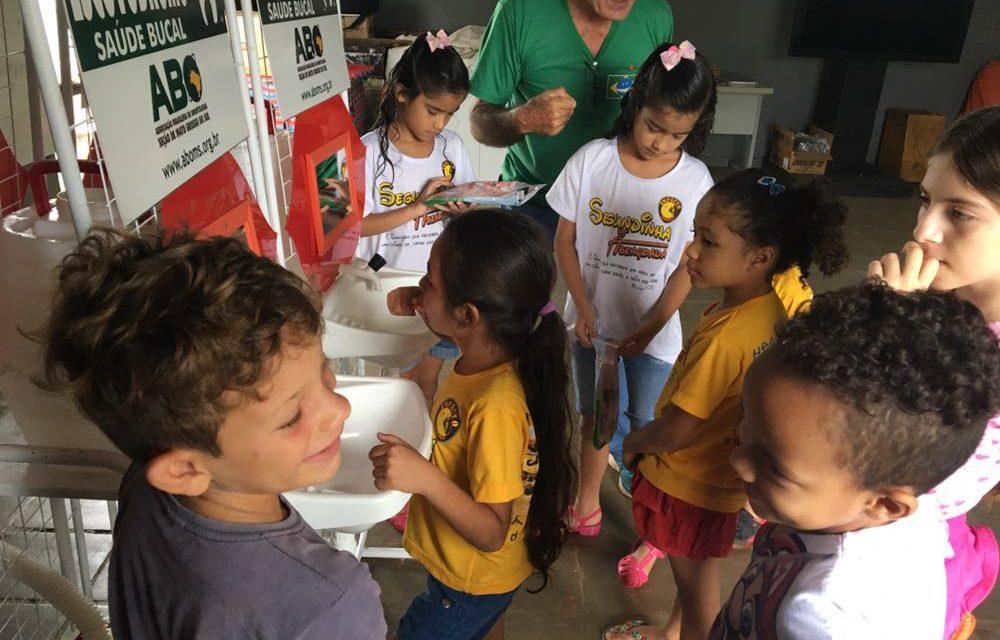 ABO-MS leva orientações a crianças do bairro Guanandi