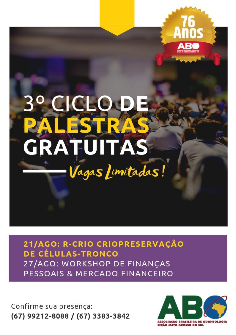ABO-MS oferece Ciclo de Palestras Gratuitas