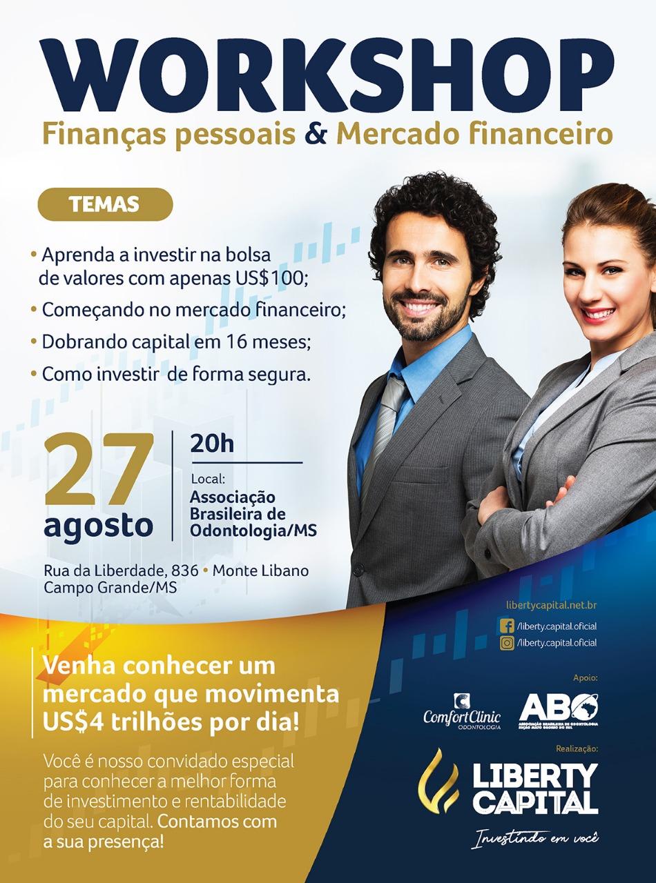 """ABO-MS realiza """"Workshop de Finanças pessoais & Mercado Financeiro"""" na próxima terça-feira"""