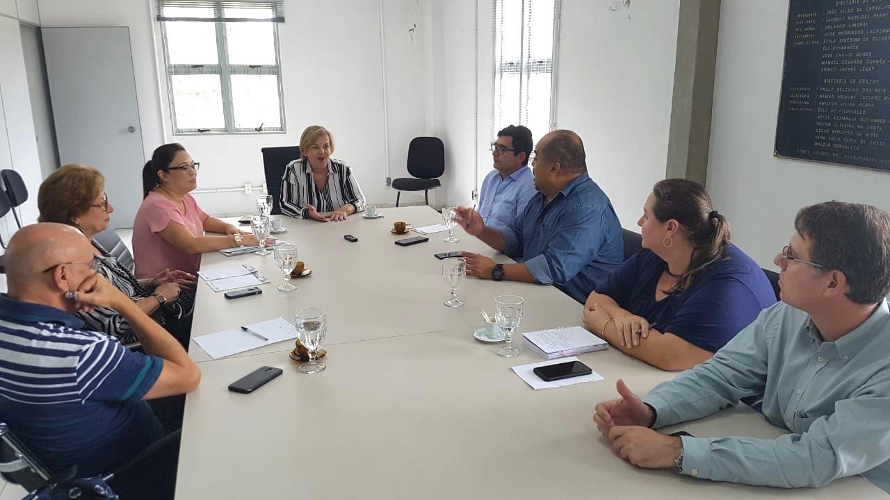 ABO-MS visita CRO-MS para reafirmar parceria
